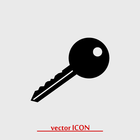 key icon, vector best flat icon
