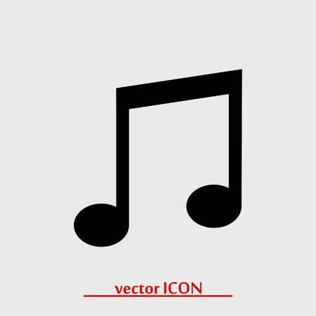 crotchets: music icon, vector best flat icon