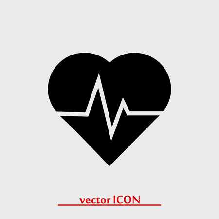 cardiograph: heartbeat vector icon, vector best flat icon Illustration