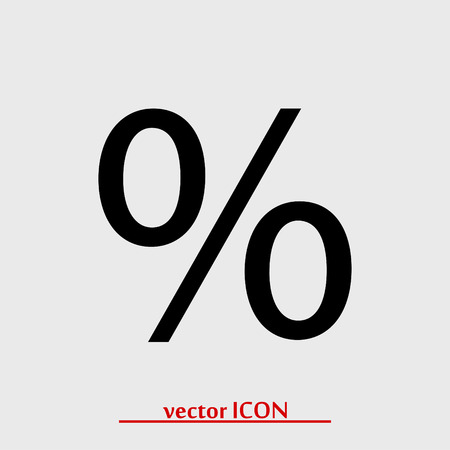 percent vector icon, vector best flat icon Illustration