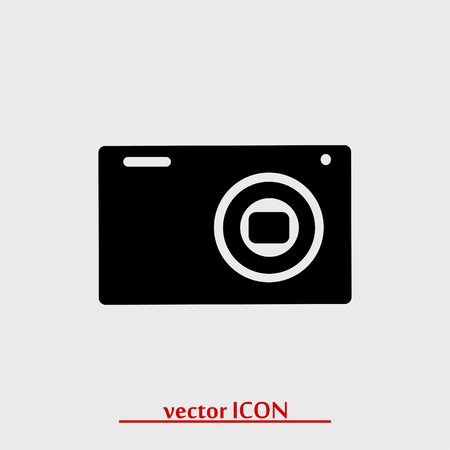 Camera 3d photo icon, vector best flat icon