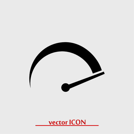 speedometer icon, vector best flat icon