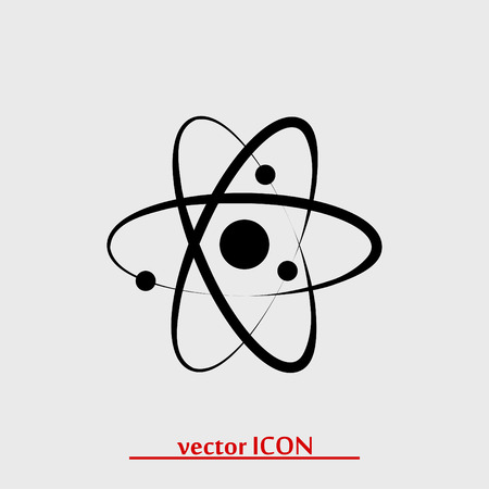 Atom sign icon, vector best flat icon