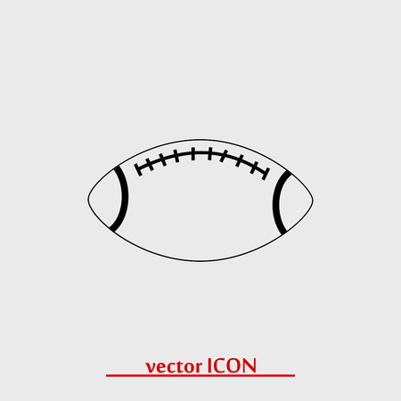 touchdown: Rugby symbol icon, vector best flat icon