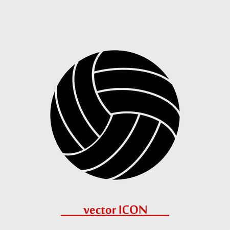 pelota de voley: Icono del balón volea, vector icono de mejor plana