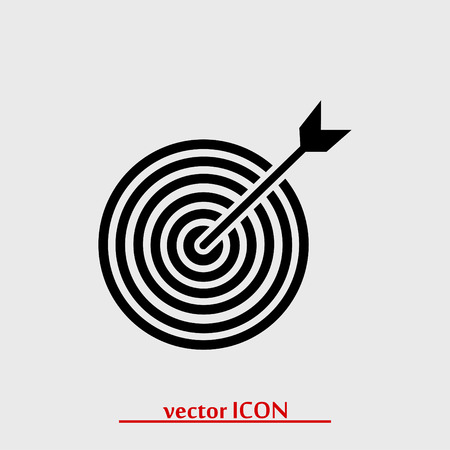 input device: target vector icon, vector best flat icon
