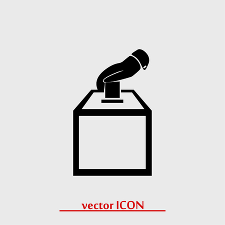 designation: vote ballot icon, vector best flat icon Illustration