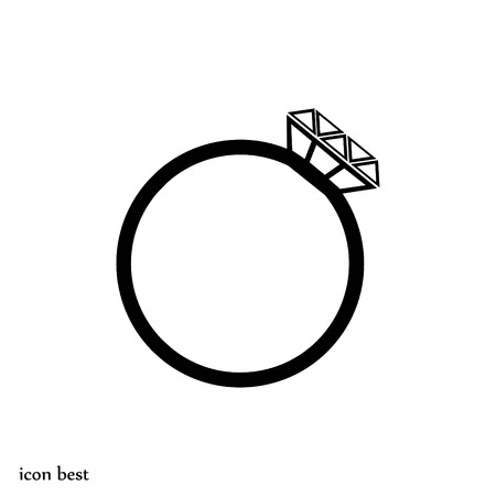 ring icon, vector best flat icon