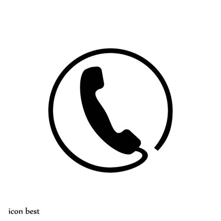 call icon, vector best flat icon
