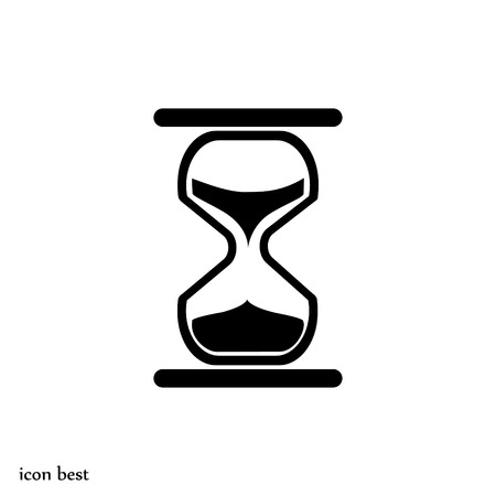 hourglass vector icon, vector best flat icon
