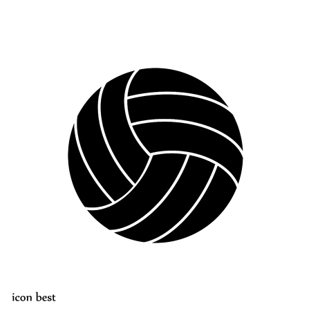pelota de voley: volley ball icon, vector best flat icon
