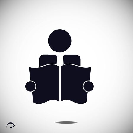 book reader: Book Reader Sign Icon, vector best flat icon