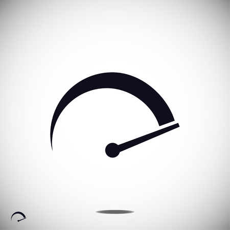 speedometer icon, vector best flat icon