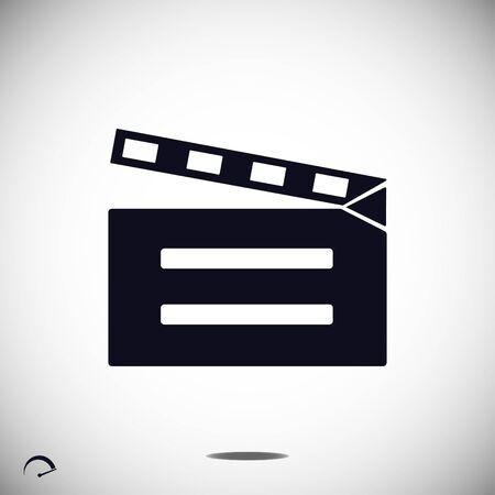 cinematographer: video icon, vector best flat icon
