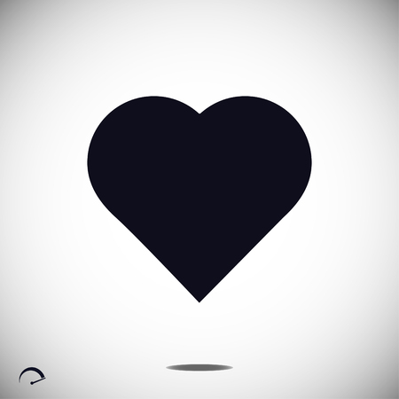 cardiograph: heart icon, vector best flat icon Illustration
