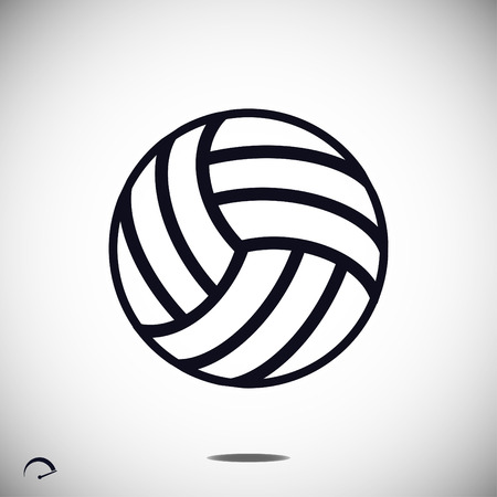 volley ball outline icon, vector best flat icon