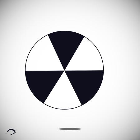 radioactive sign sprayed on metal barrel Illustration