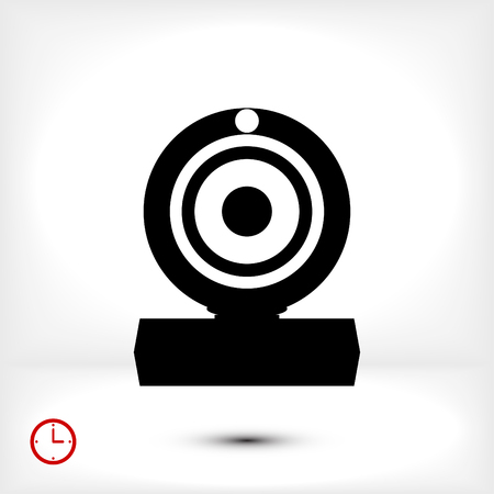 journalistic: camera icon, vector best flat icon, EPS