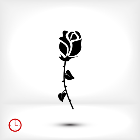 rose icon, vector best flat icon, EPS Illustration