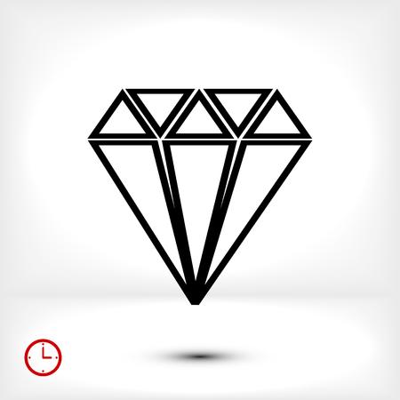 Diamond icon, vector best flat icon, EPS Illustration