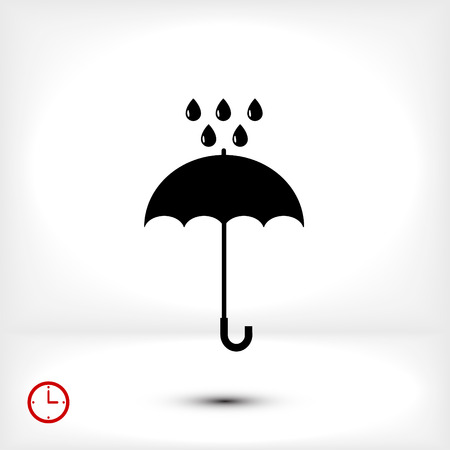 Umbrella and rain drops icon, vector best flat icon, EPS