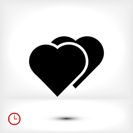 medical technology: heart icon, vector best flat icon, EPS Illustration