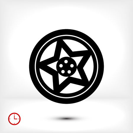wheel disks icon, vector best flat icon, EPS