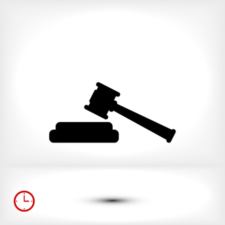 courthouse: Hammer judge icon, vector best flat icon EPS