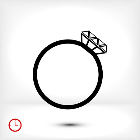 ring icon, vector best flat icon, EPS Illustration