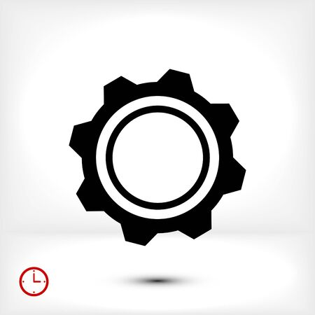 engine: gear icon, vector best flat icon EPS 10