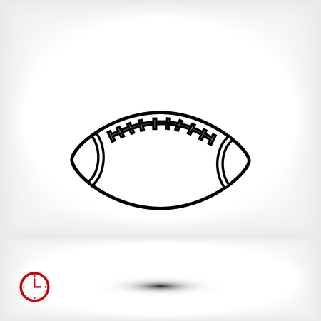 Rugby Ball icon, vector best flat icon, EPS Illustration