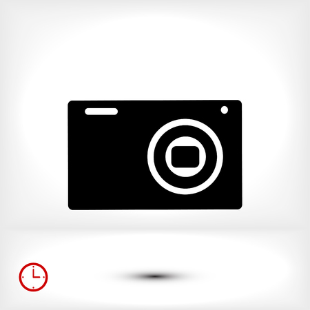 Camera 3d photo icon, vector best flat icon, EPS