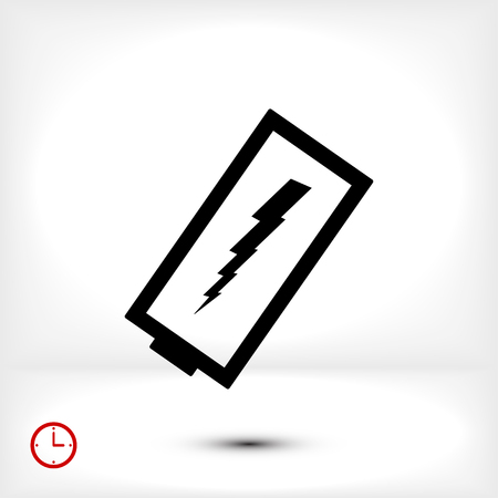 discharged battery icon, vector best flat icon, EPS