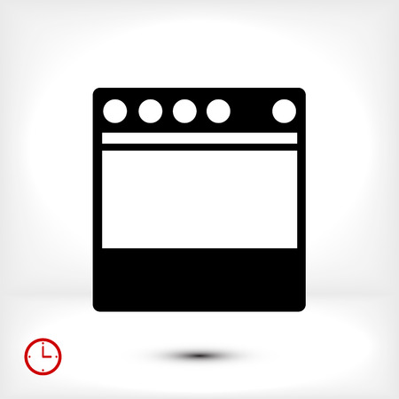 butane: stove icon, vector best flat icon, EPS
