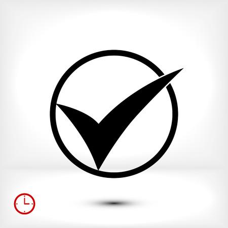 validation: ok vector icon, vector best flat icon, EPS Illustration