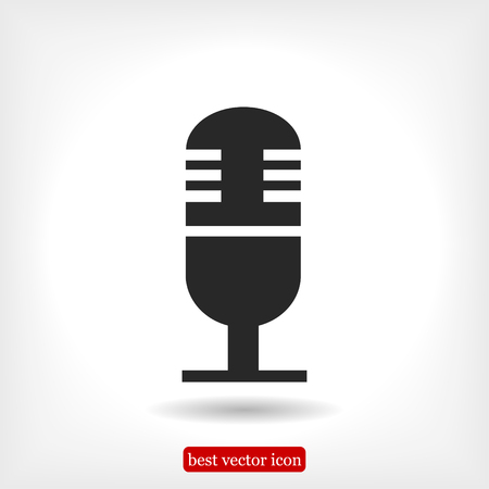 microphone icon, vector best flat icon Çizim