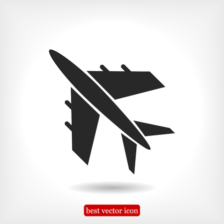 plane vector icon, vector best flat icon, EPS