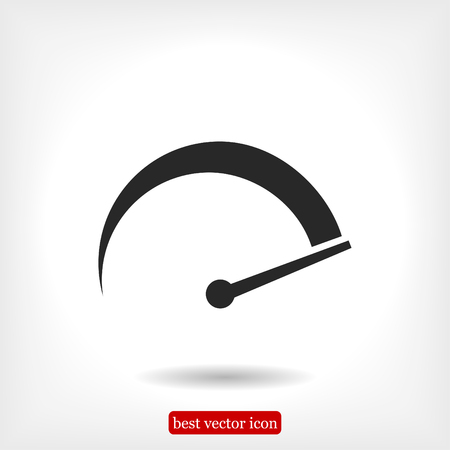 speedometer icon, vector best flat icon EPS