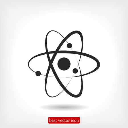 Atom sign icon, vector best flat icon, EPS Illustration