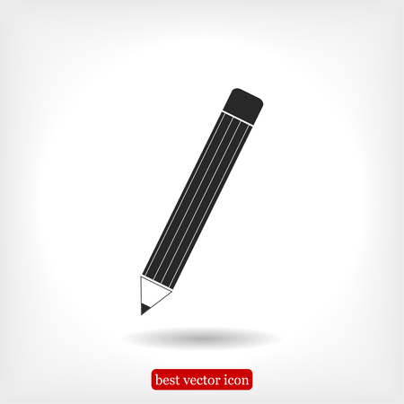 pencil icon, vector best flat icon, EPS