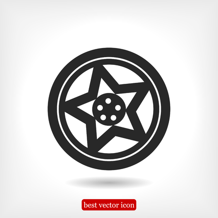 alloy: wheel disks icon, vector best flat icon, EPS
