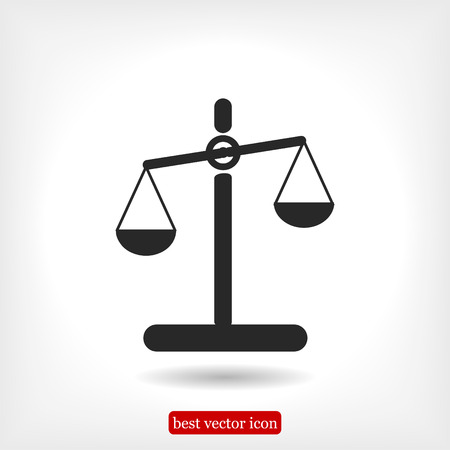 scale icon, vector best flat icon, EPS