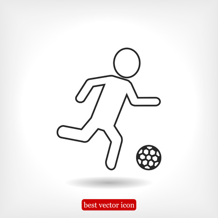 shooting at goal: Rester version. Soccer, football players silhouettes icons, vector best flat icon, EPS Illustration