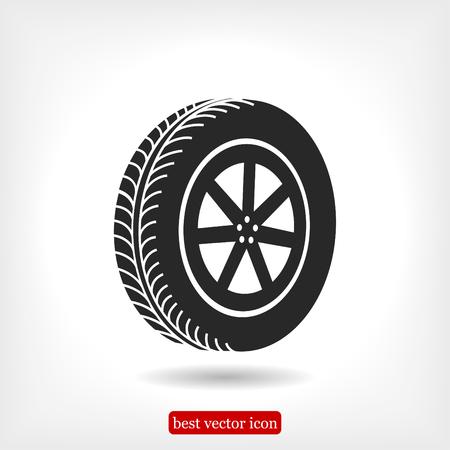 aluminum: wheel icon, vector best flat icon, EPS