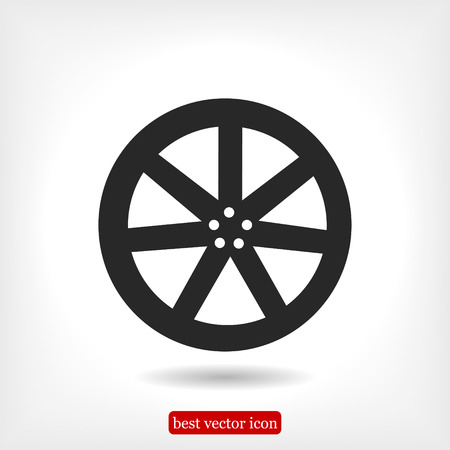 alloy wheel: wheel disks icons, vector best flat icon, EPS Illustration
