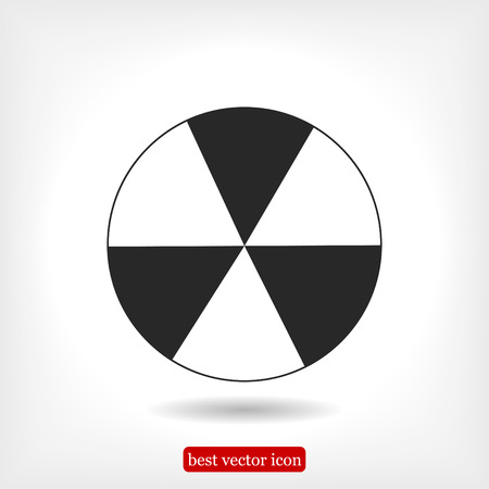 oil drum: radioactive sign sprayed on metal barrel icon, vector best flat icon, EPS