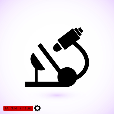 Microscope icon, vector best flat icon. Illustration