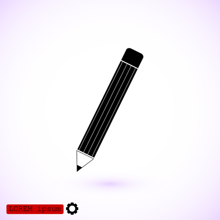 Pencil icon, vector best flat icon.