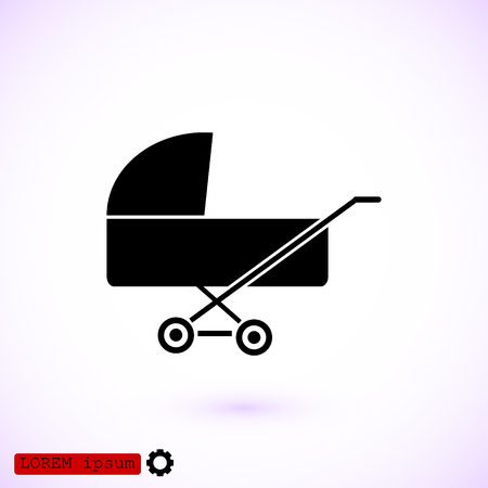 Pram icon, vector best flat icon.