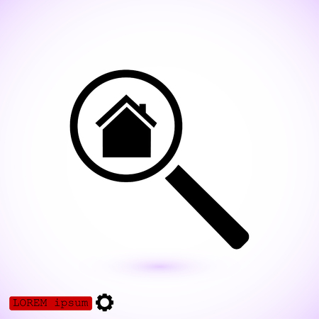 Search house, icon, vector best flat icon. Illustration